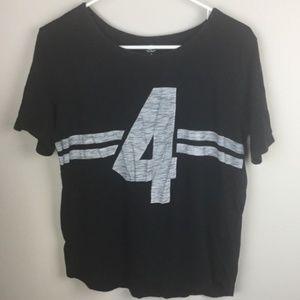 Old Navy T Shirt Size Medium Top Black Gray #4